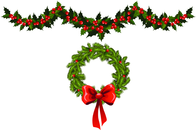 Christmas Garland Clip Art