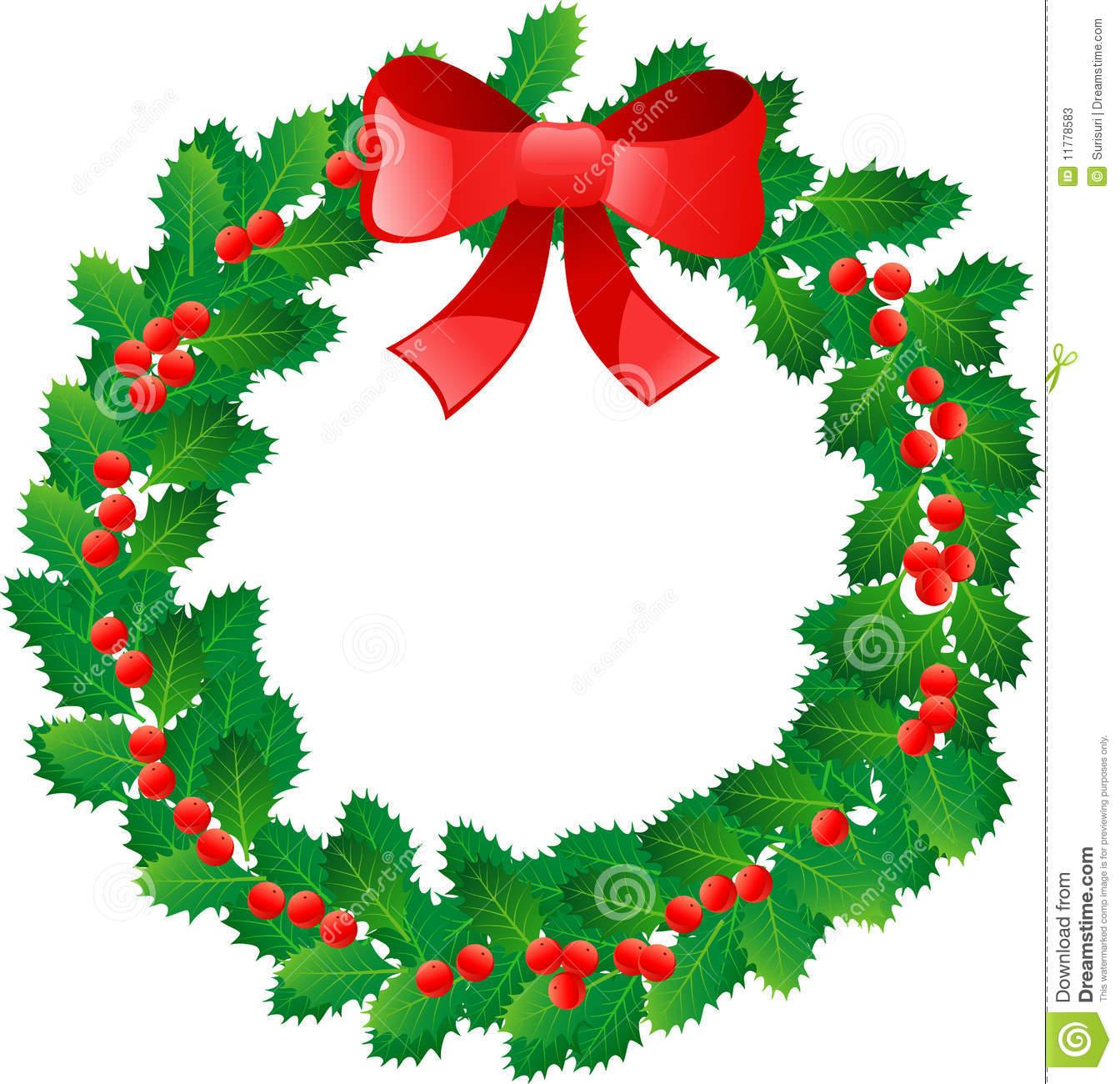 Christmas Wreath Border Clipart Clipart Suggest