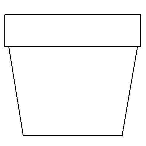 Pattern Flower Vase Clipart Clipart Suggest Flower Pot Coloring Page