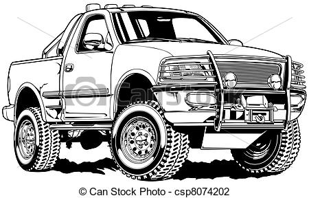 Ford Truck Clip Art Stock Illustration   4x4 Truck