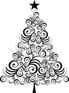 Fotolia  26457958   Iostephy Com   Christmas Tree Black Outline More
