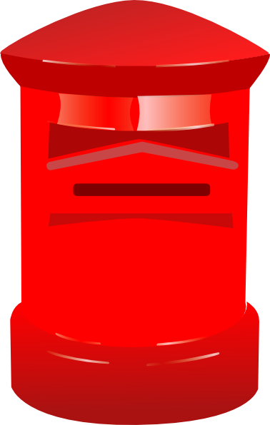 Free Red Post Box Clip Art