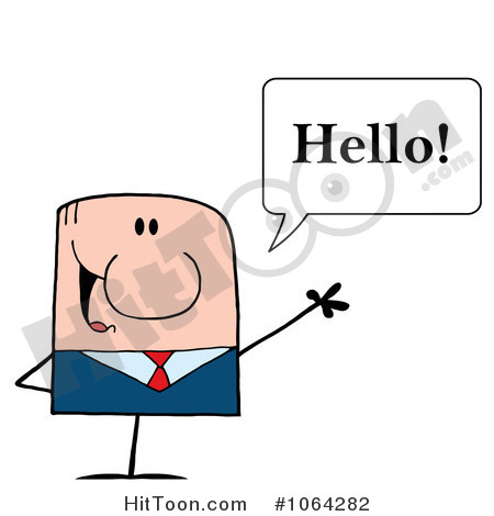 Hello Clipart Businessman Clipart 1064282