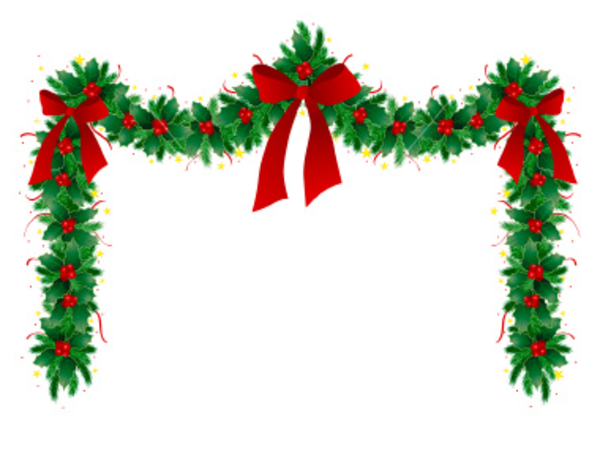 Ist Christmas Garland   Free Images At Clker Com   Vector Clip Art
