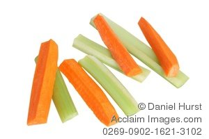 Stock Photo Of Celery And Carrot Sticks   Acclaim Stock Photography