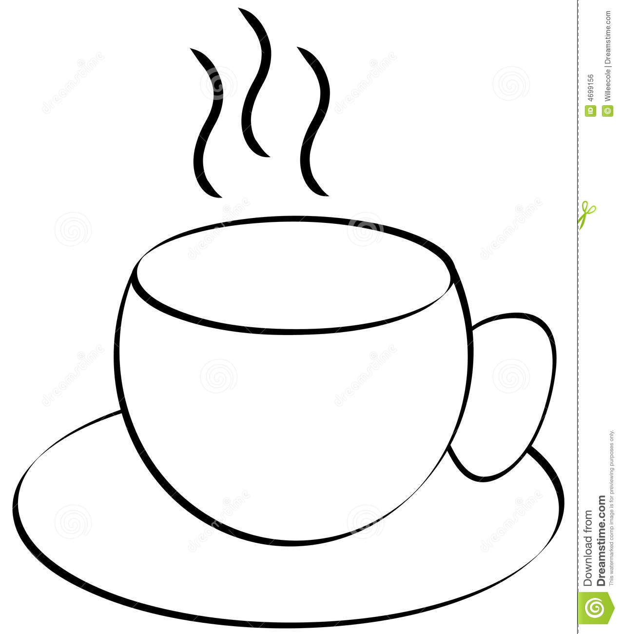 tea cup clipart black and white - photo #15