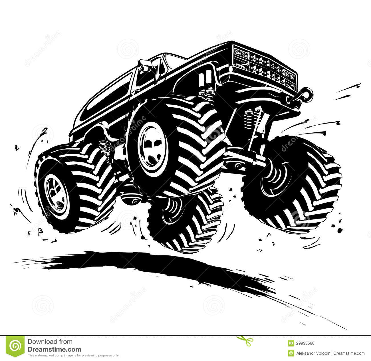 Vector Cartoon Monster Truck  Available Eps 8 Vector Format