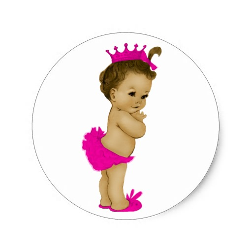 Vintage African American Princess Baby Shower Clip Art   Hot Girls