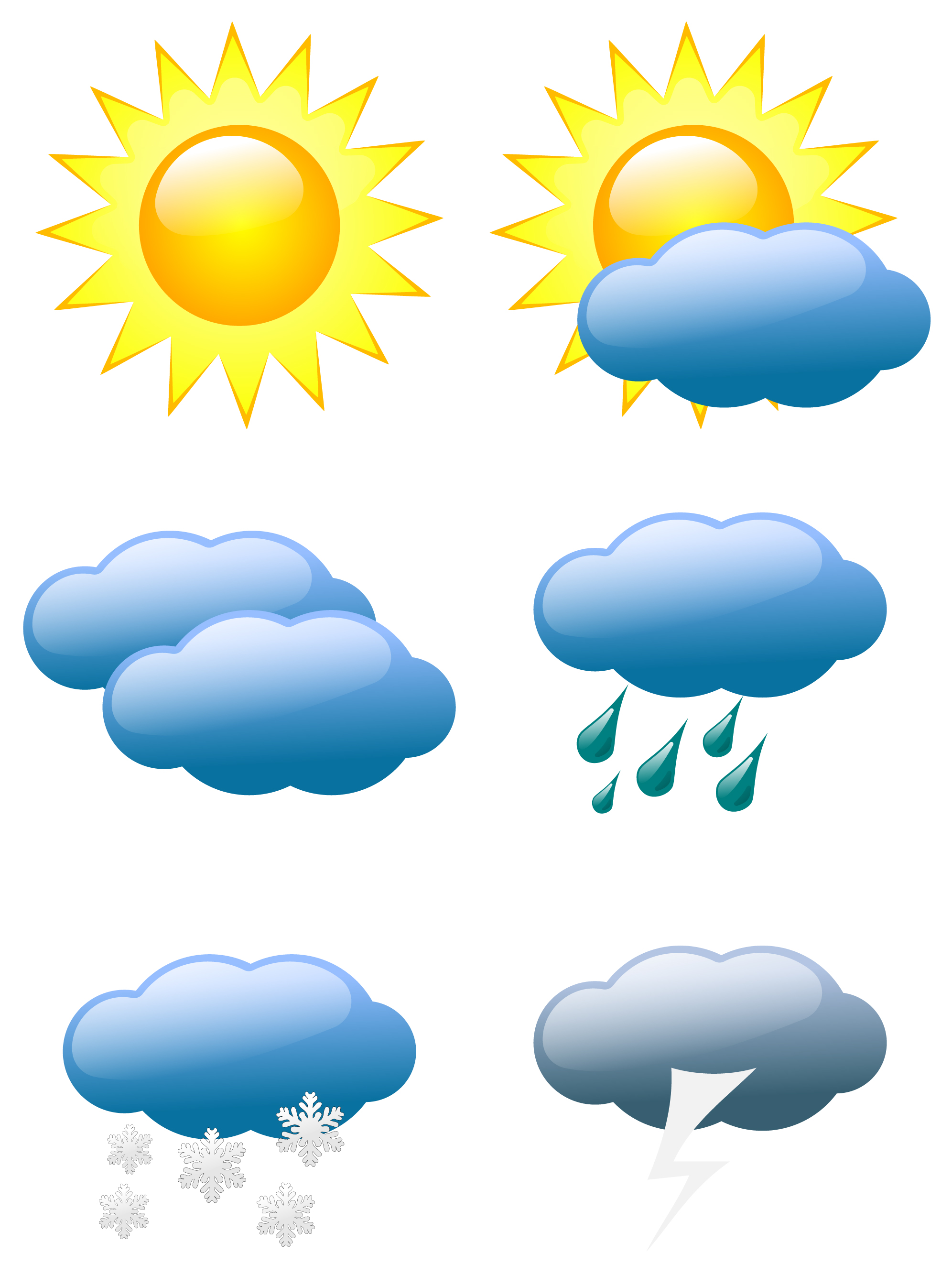 Weather Symbols Icons Clip Art