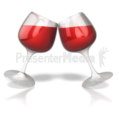 Wine Glass Toast Celebration   Presentation Clipart   Great Clipart