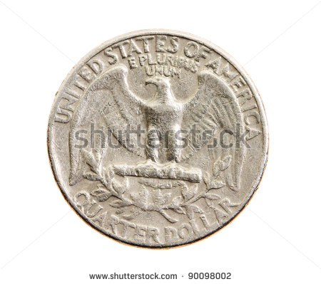 25 Cents Clipart The American Coin In 25 Cents