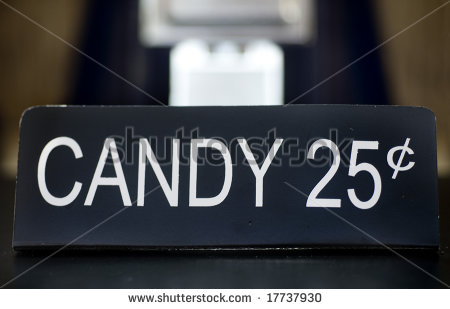25 Cents Symbol 25 Cent Candy Machine Sign