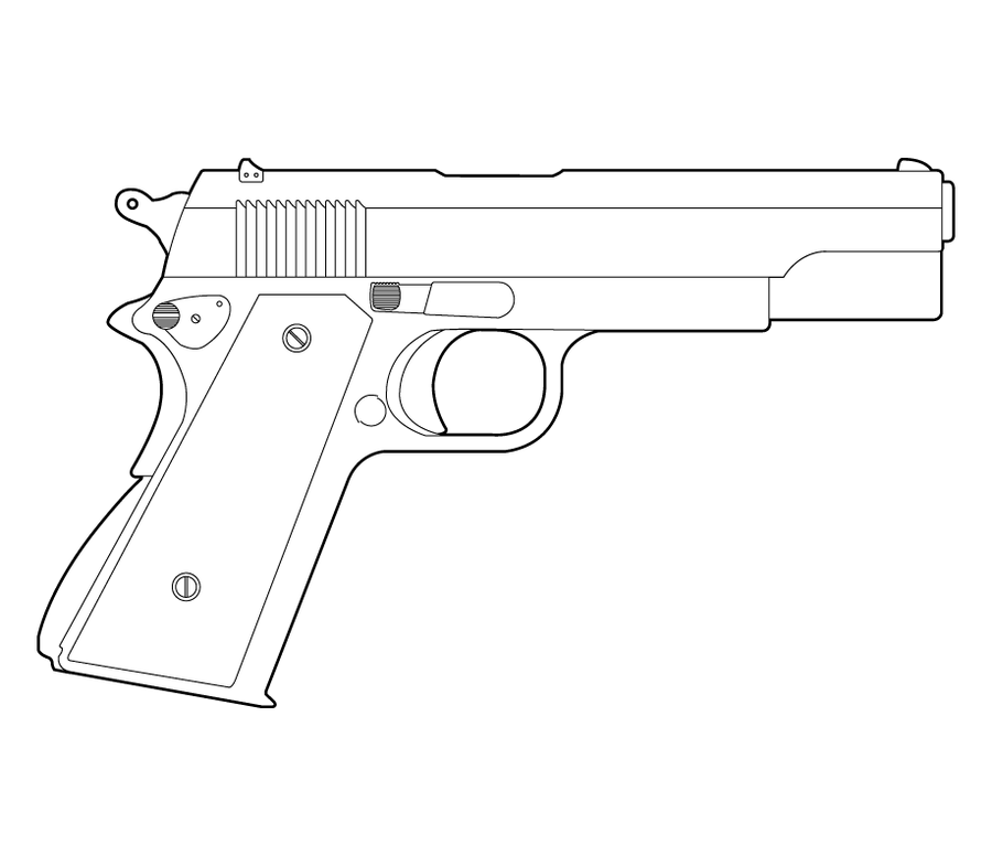 One Line Art Gun : Clipart suggest