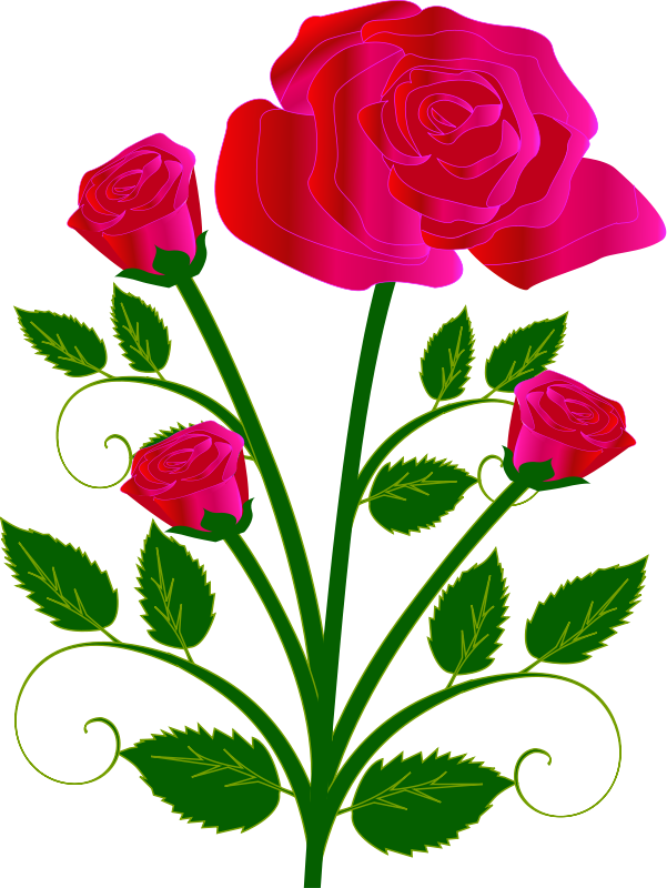 Free Red Roses Clip Art