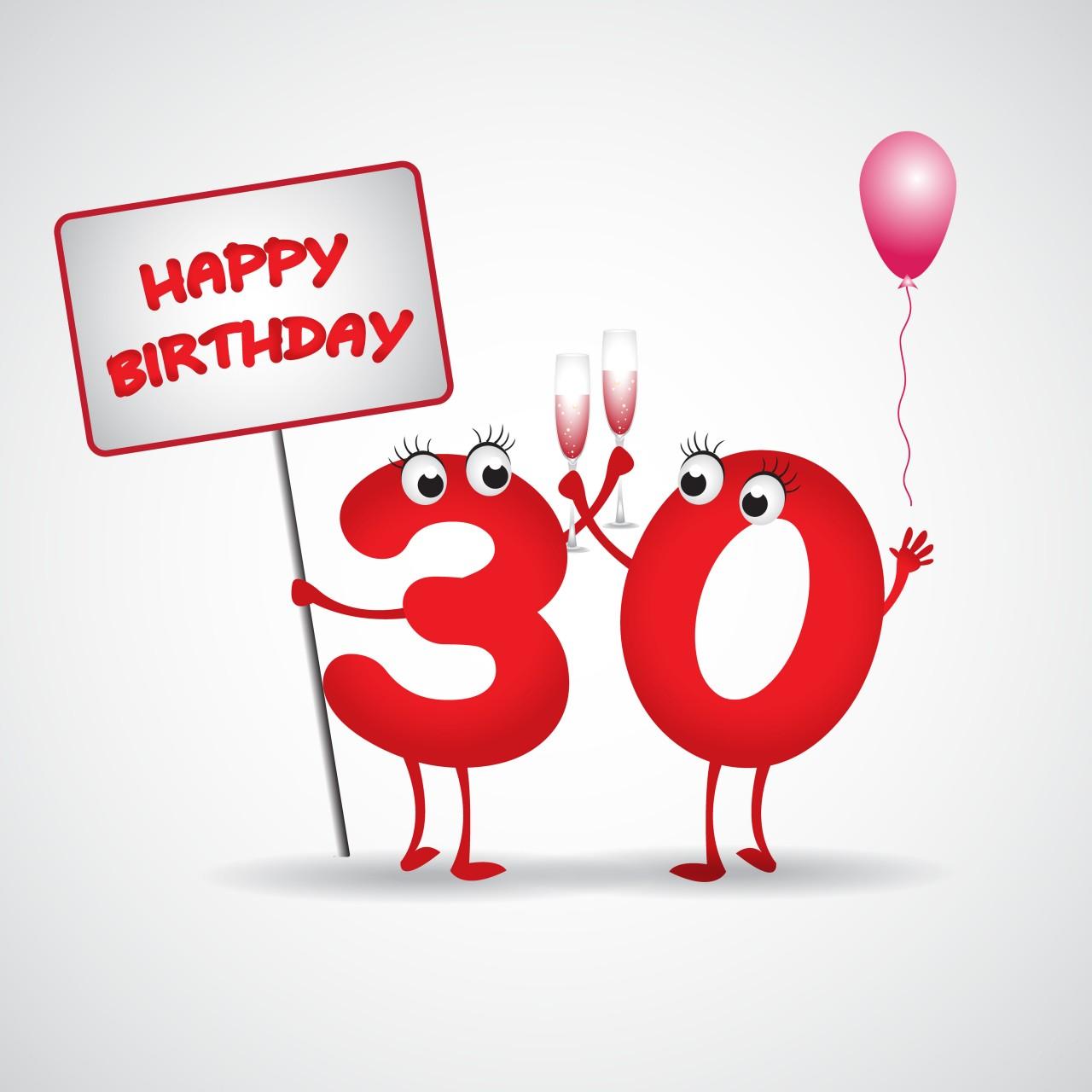 30 Birthday Clipart
