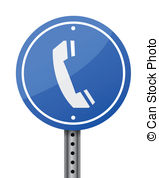 Phone Sign Illustration Design Over A White Background