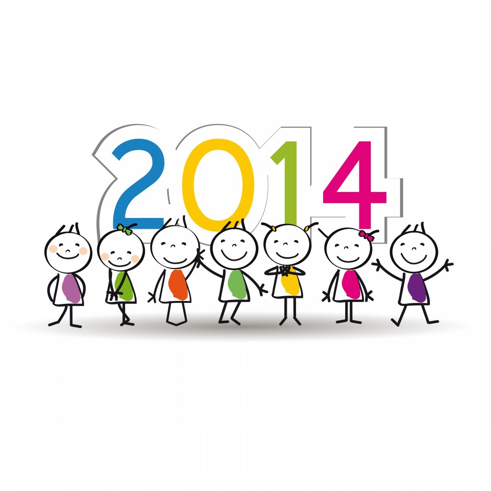 Printable Clip Art Of Happy New Year 2014 For Kids   Coloring Point