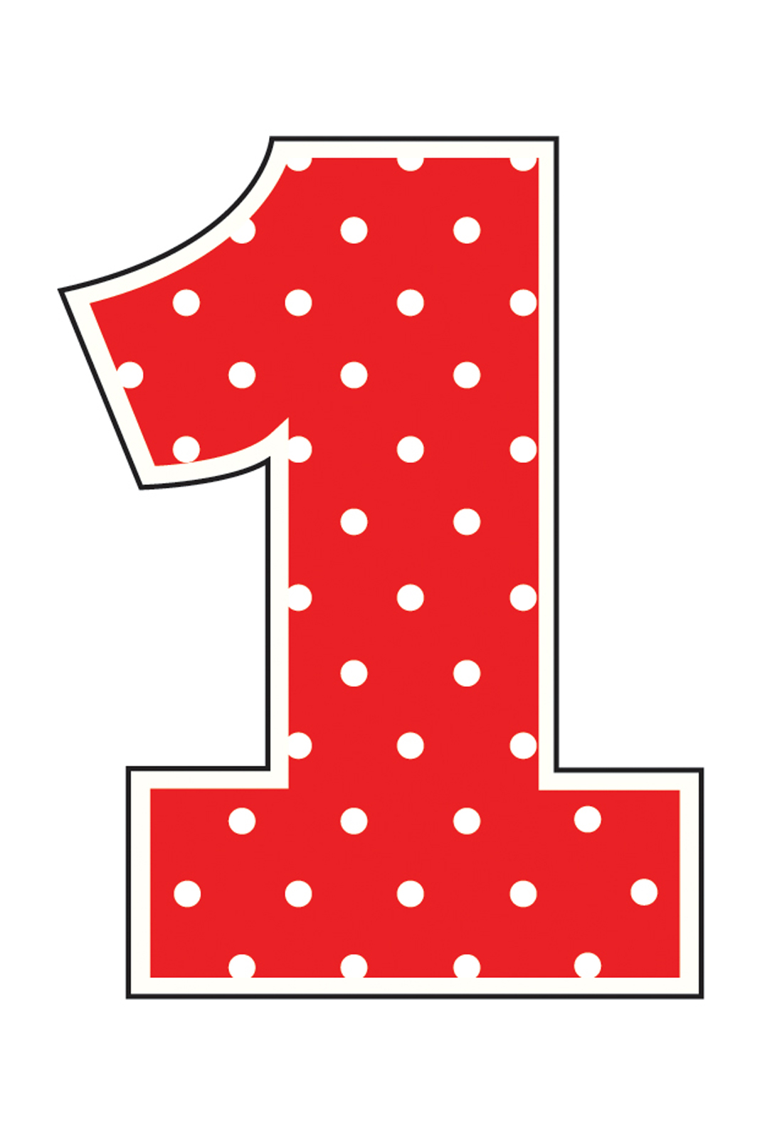 Clip Art Number 1 Clip Art red number 1 clipart kid polka dot candle thepartyworks
