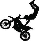 Clip Art Dirt Bike Clip Art dirt bike track clipart kid silhouette of motorcycle rider performing trick stock illustration