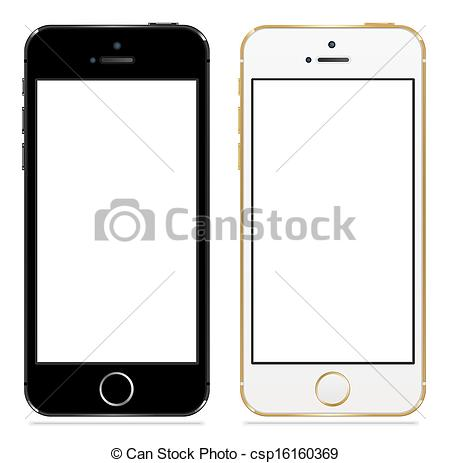 Vector   Apple Iphone 5s Black And White   Stock Illustration Royalty