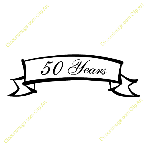 50 Years Description Banner Celebrating Anniversary Of 50 Years