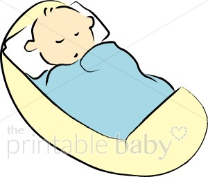 Baby In Blanket Clipart Baby In Crib Clipart
