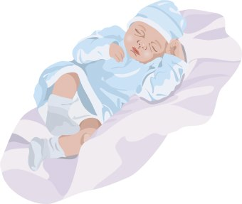 Baby Wrapped In Blanket Clipart Sleeping Baby Clip Art