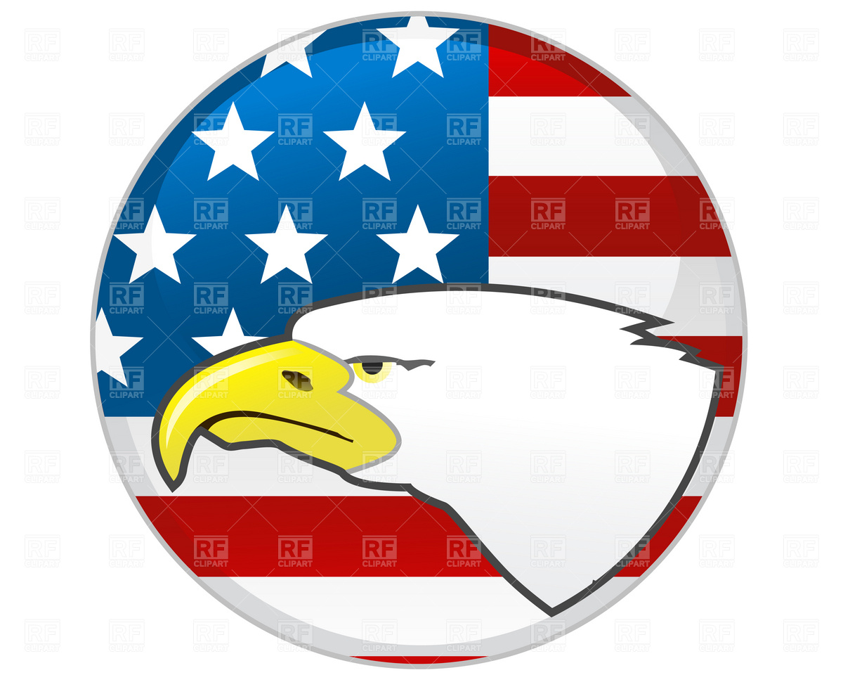 Badge With Eagle And American Flag 1608 Plants And Animals Download