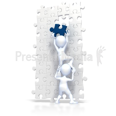 Build Puzzle Teamwork Presentation Clipart