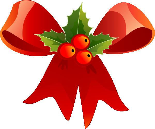 Clip Art Christmas Bow Clipart christmas bow clipart kid with holly clip art at clker com vector art