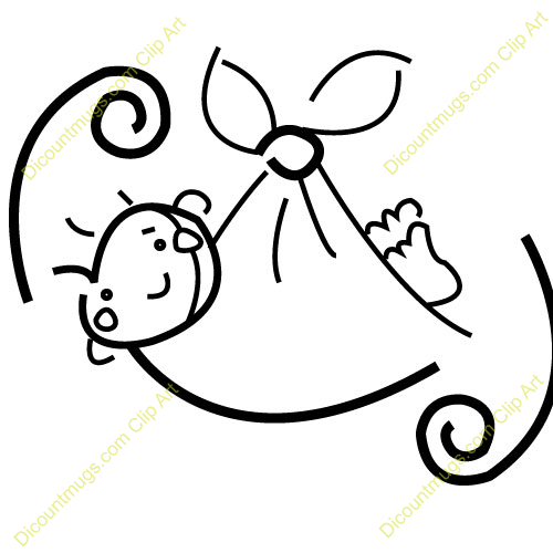 Clipart 11193 Baby In Decorative Blanket   Baby In Decorative Blanket