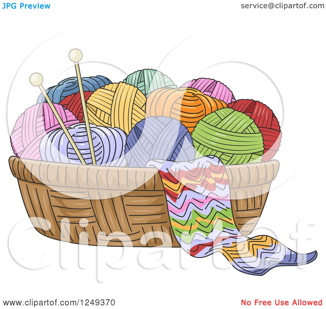 Clip Art Basket Of Yarn Clipart - Clipart Kid