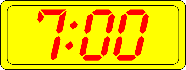 Digital Clock 7 00 Clip Art At Clker Com   Vector Clip Art Online
