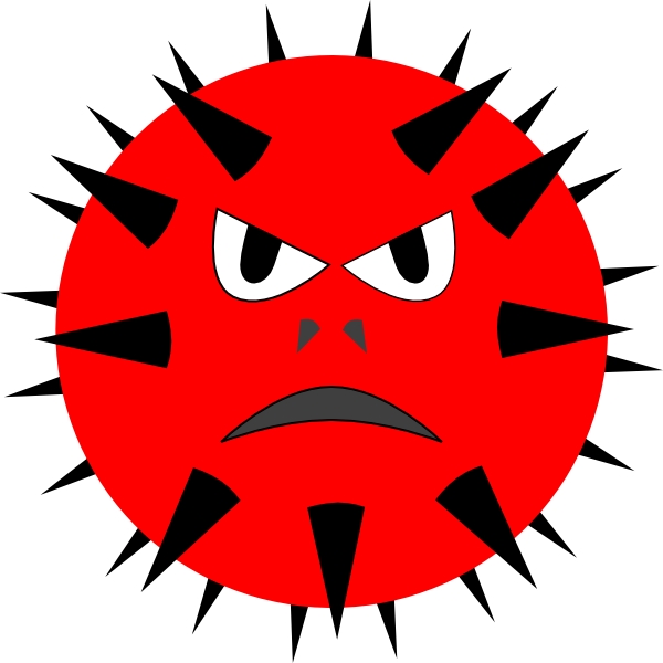 Evil Virus Clip Art At Clker Com   Vector Clip Art Online Royalty