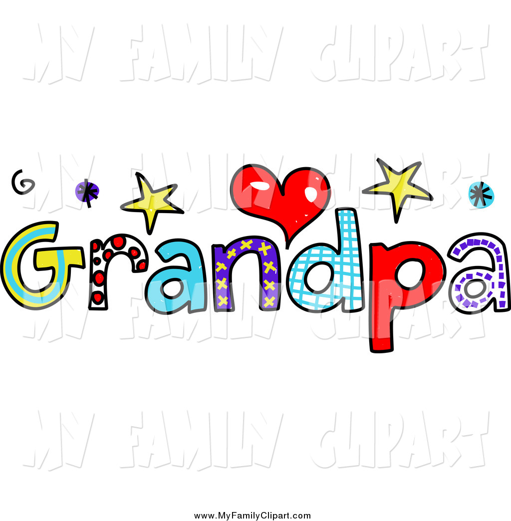 Family Word Clipart Clip Art Of Colorful Grandpa Text By Prawny 798