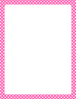 Free Polka Dot Borders  Clip Art Page Borders And Vector Graphics