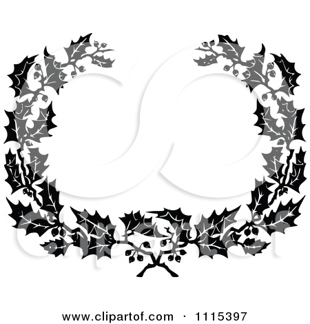 Go Back   Gallery For   Wreath Black And White Clip Art