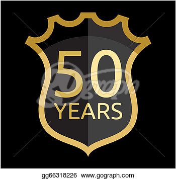 Golden Shield 50 Years  Clipart Illustrations Gg66318226