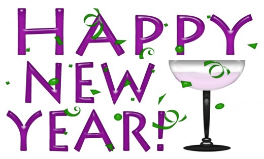 Happy New Year Clip Art Printable Banner Lettering