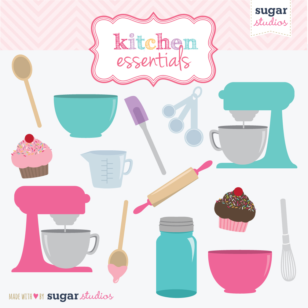 Kitchen Essentials Clip Art Set