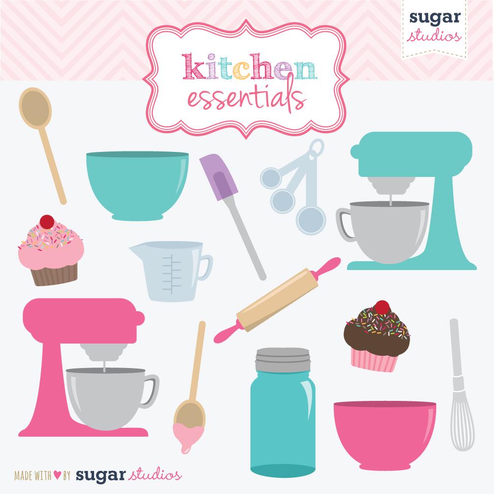Kitchen Essentials Clip Art Set