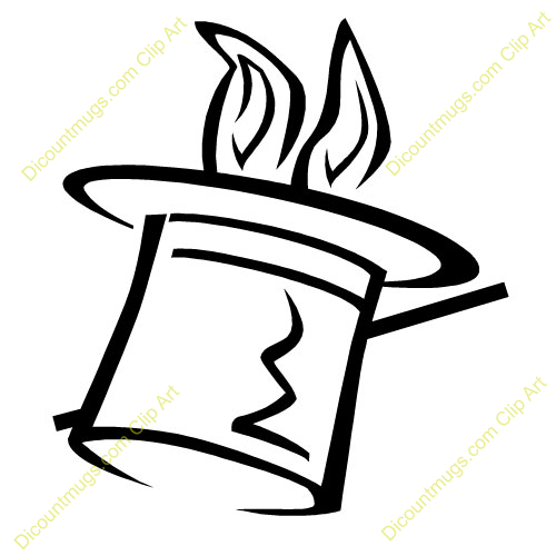 Magic Wand Clipart Black And White Magic Hat And