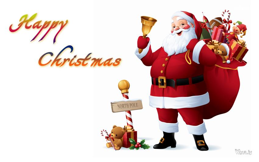 Merry Christmas Santa Clipart - Clipart Kid