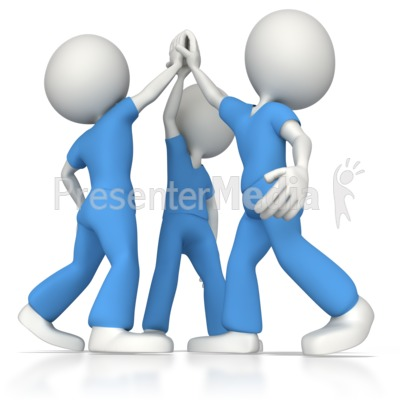 Nurse Or Doctor Team High Five   Medical And Health   Great Clipart
