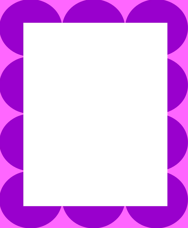 polka dot clip art frame