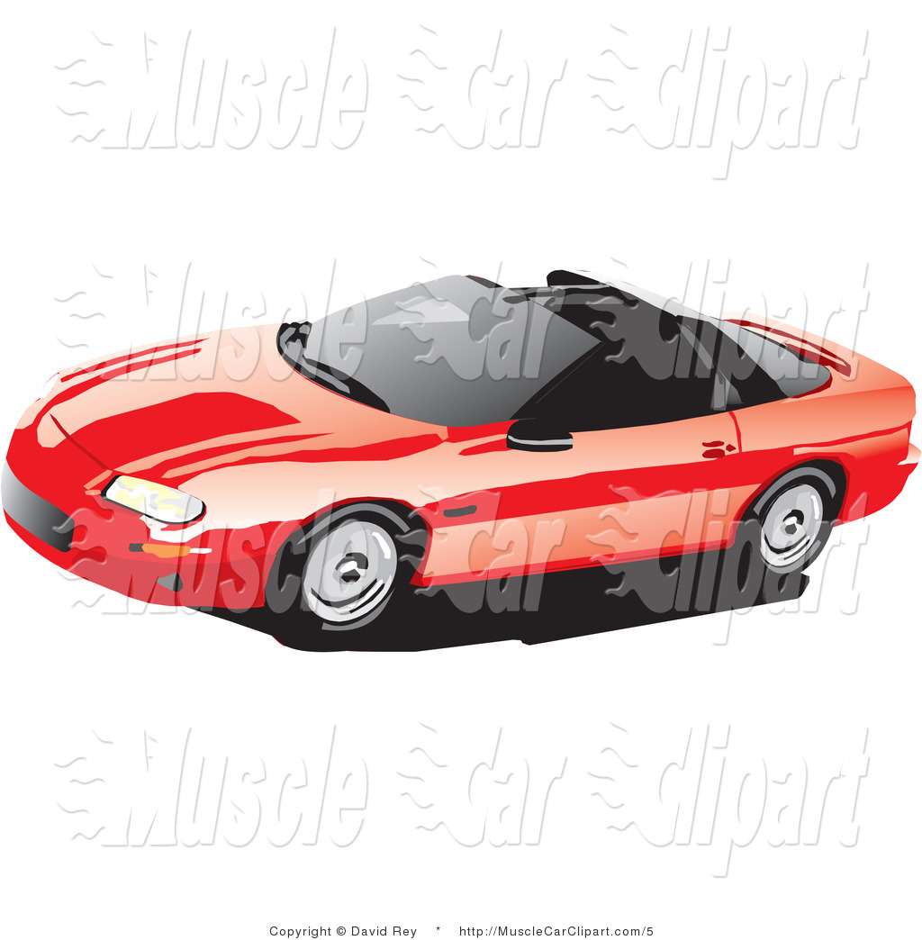 Preview  Vector Automotive Clipart Of A Red Chevy T Top Camaro