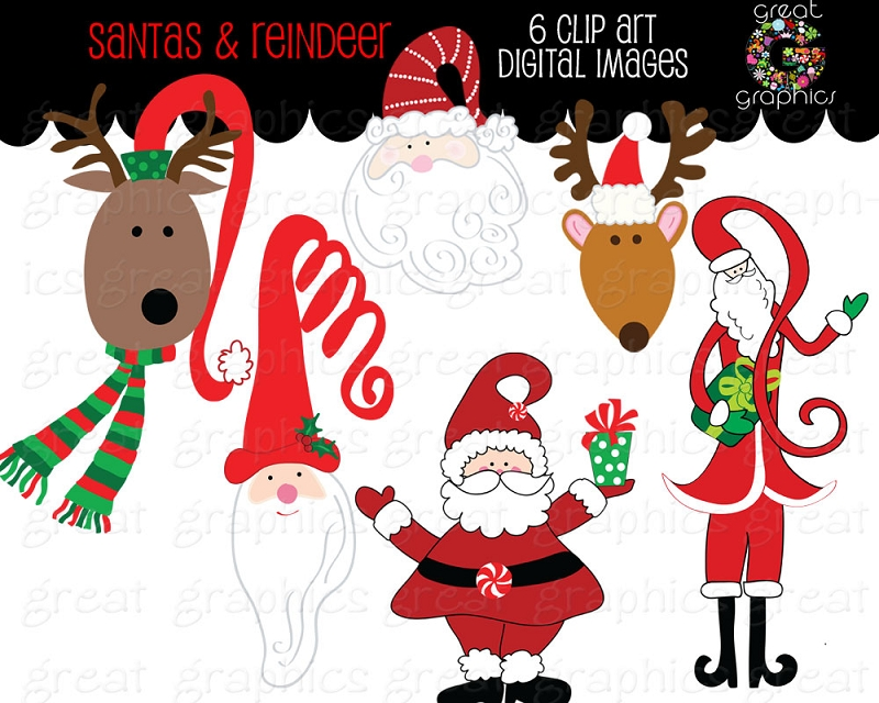 Printable Christmas Reindeer Clipart - Clipart Kid