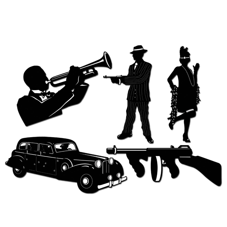 Flapper Silhouette Clip Art 1920s jazz clipart - clipart kid