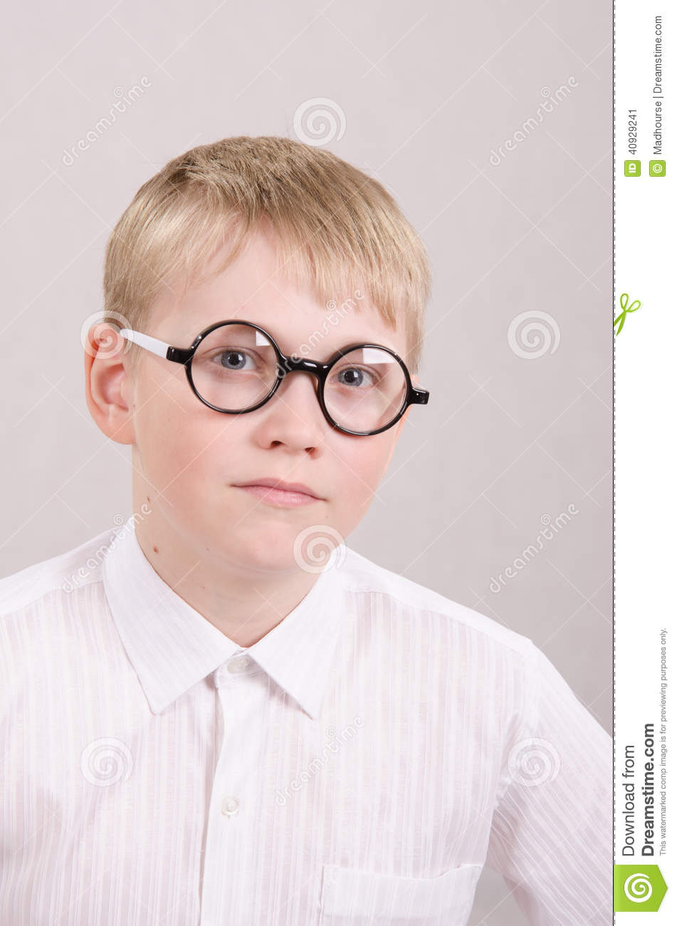 Twelve Year Old Boy With Glasses Stock Photo   Image  40929241