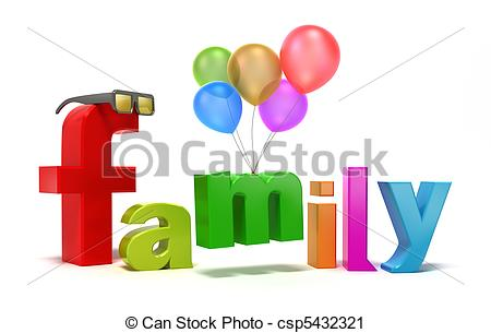 Word Family With Colourful Letters    Csp5432321